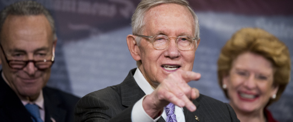SENATOR HARRY REID LEADER OF THE DEMOCRATS