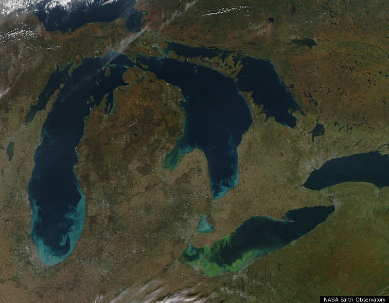 PHOTOS FROM SPACE: Lake Erie Ravaged By Toxic Algae