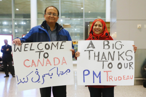 the arrival of syrian refugees to canada