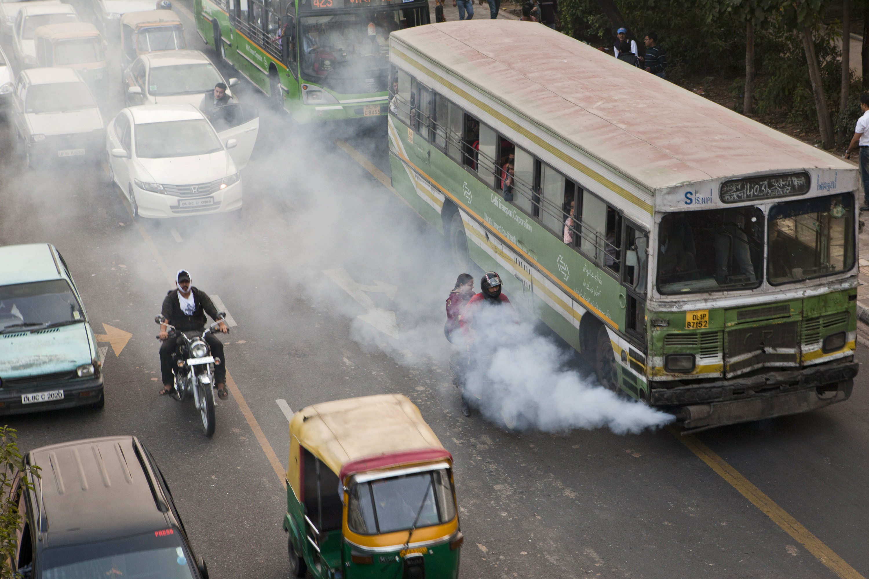 delhi vehicle smoke