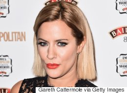 How Caroline Flack Gets Perfect Red Lips Without Lipstick