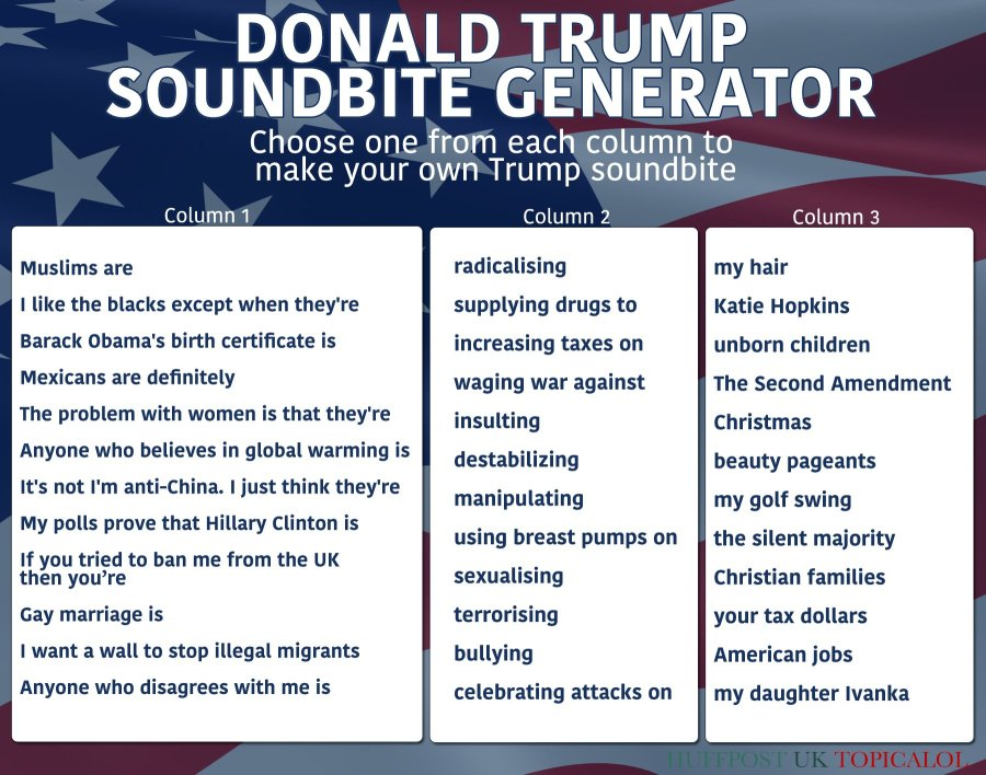 donald trump soundbite generator huffington post
