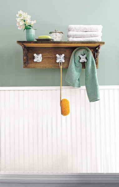 Vintage bathroom towel hooks - Old House Salvage Style Projects Faucet Handle Towel Rack Huffpost