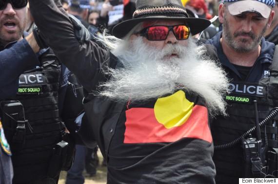 aboriginal protestor