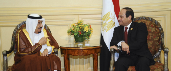 EGYPTIAN PRESIDENT AND THE SAUDI KING