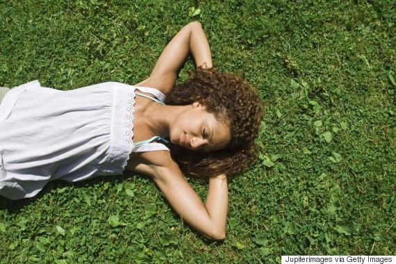 black woman sleeping