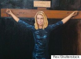 Artist Paints Portrait Of Katie Hopkins Being Crucified