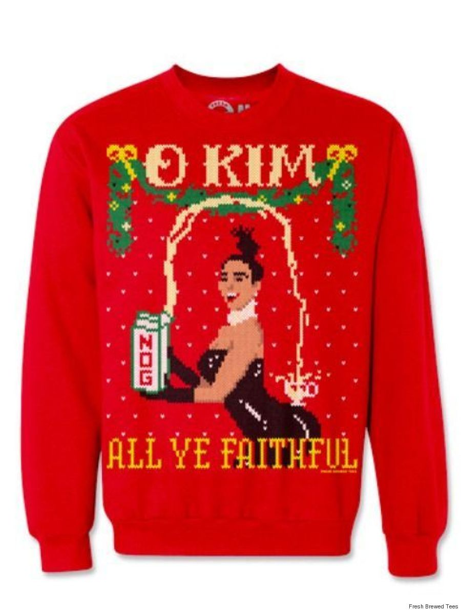 kim kardashian christmas sweater