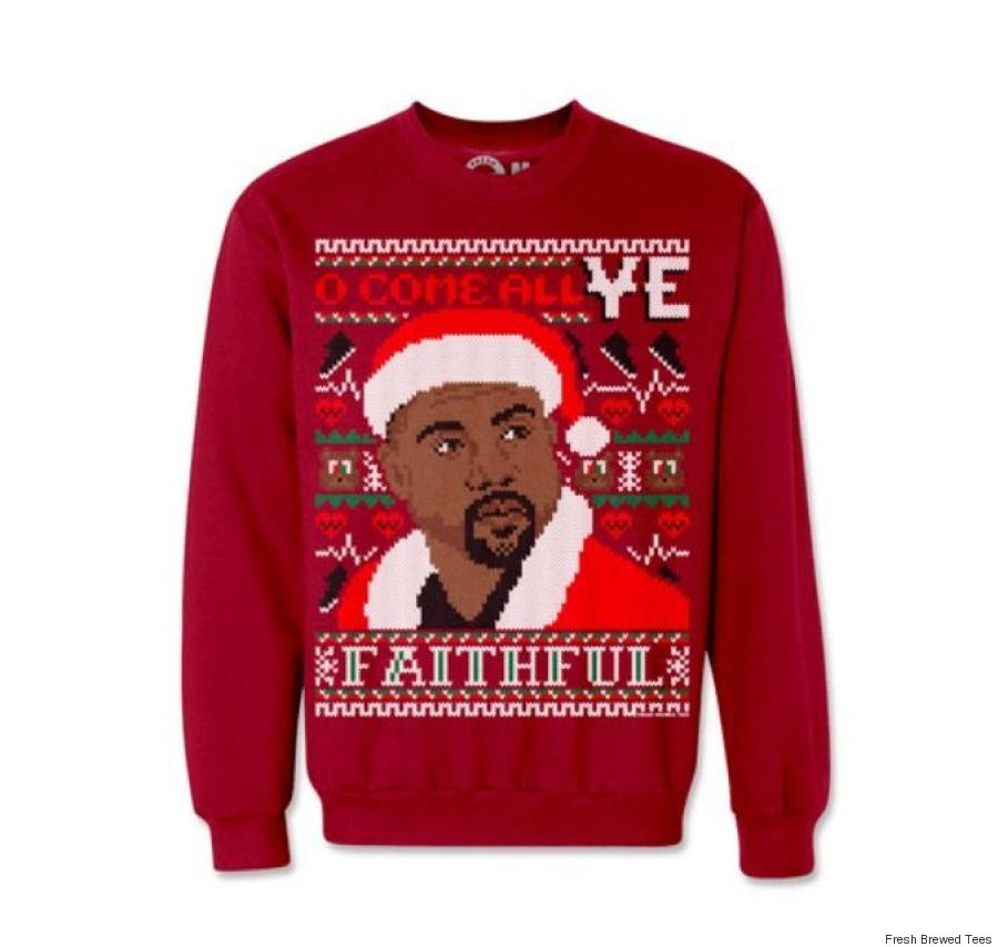 These Kim Kardashian And Kanye West Christmas Sweaters Are Perfect ...