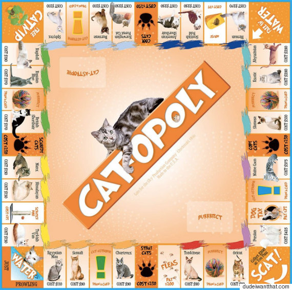Cat Monopoly Game Pieces