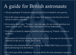 REVEALED: Guide For British Astronauts