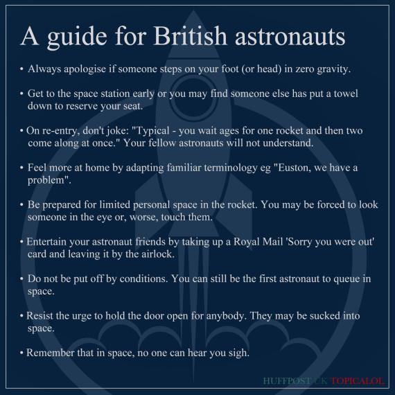 guide for british astronauts