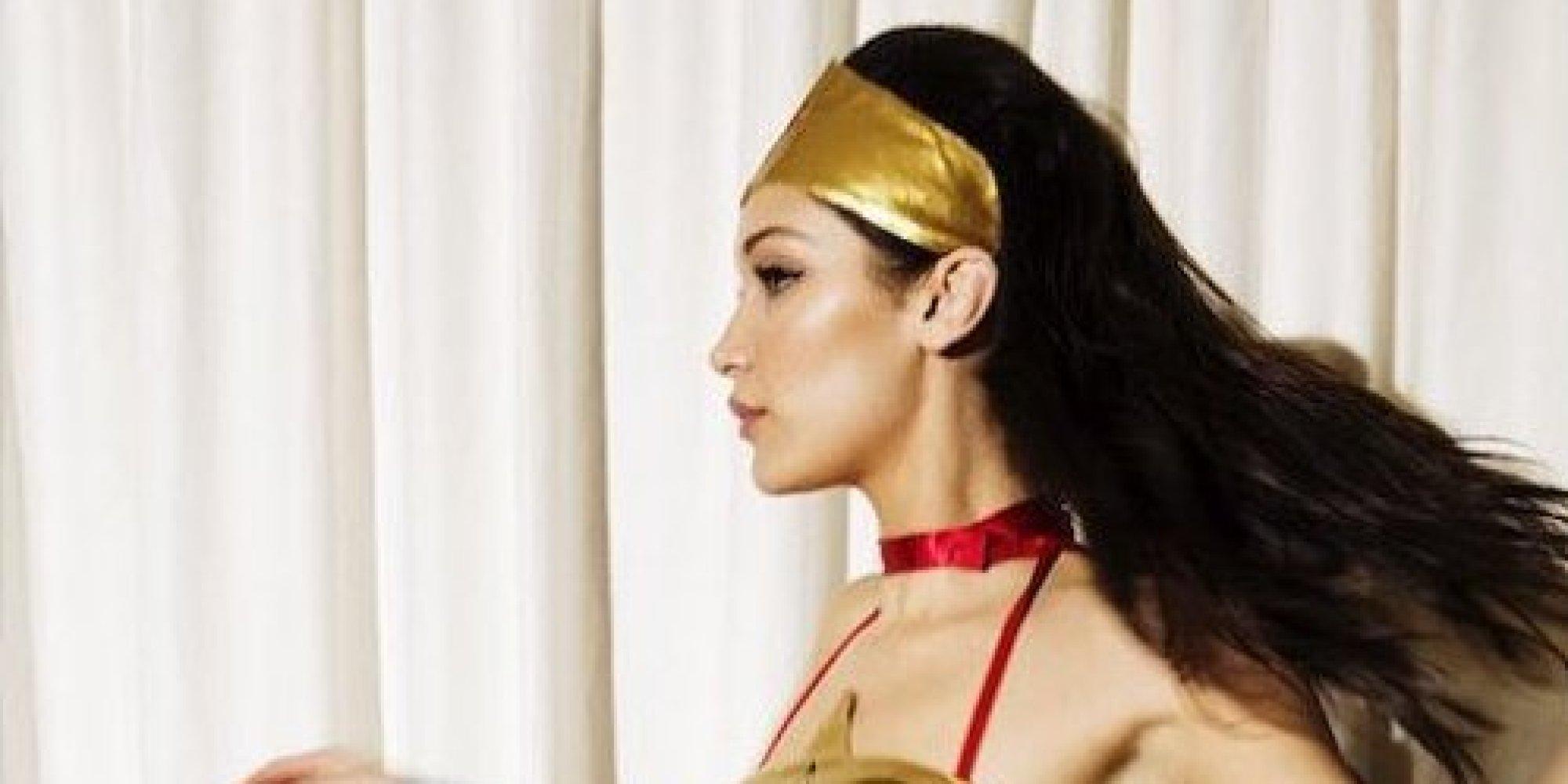 ... Transforms Into Wonder Woman For Love Magazine's 2015 Advent Calendar