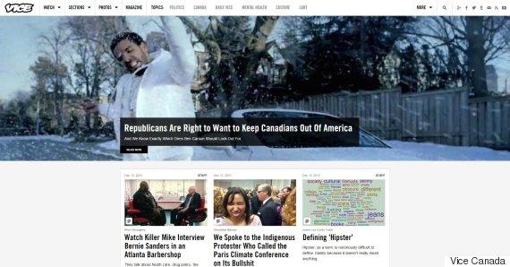 vice canada homepage