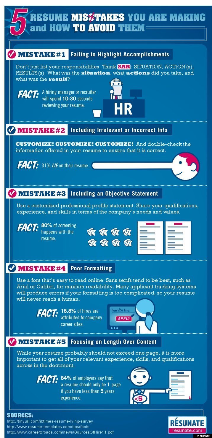 5 resume mistakes you are making and how to avoid them infographic