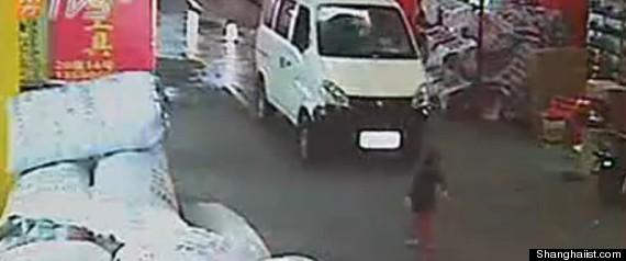china toddler run over