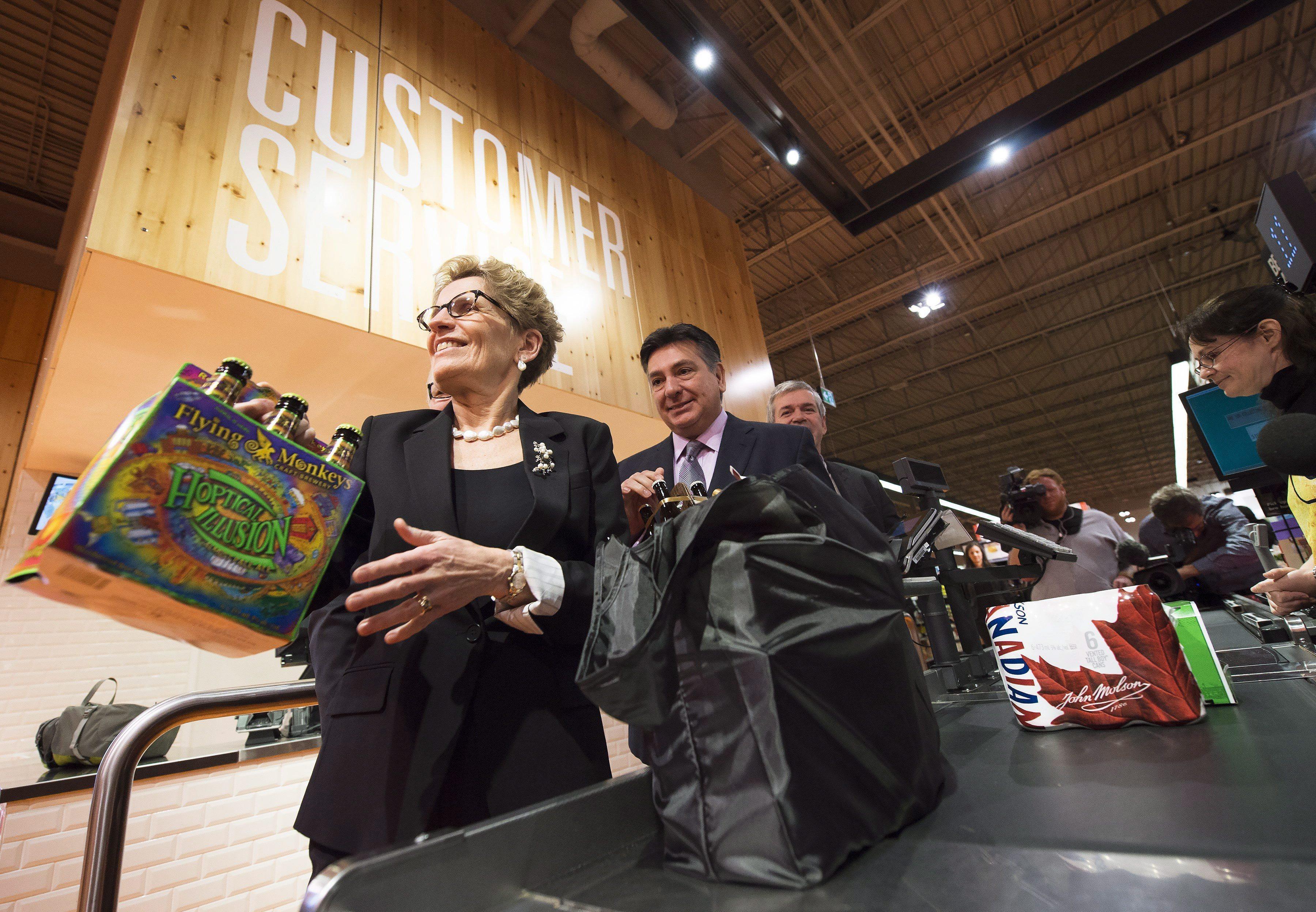 kathleen wynne beer grocery stores