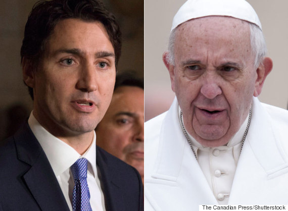 justin trudeau pope francis