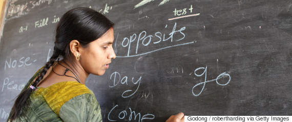 women teacher india