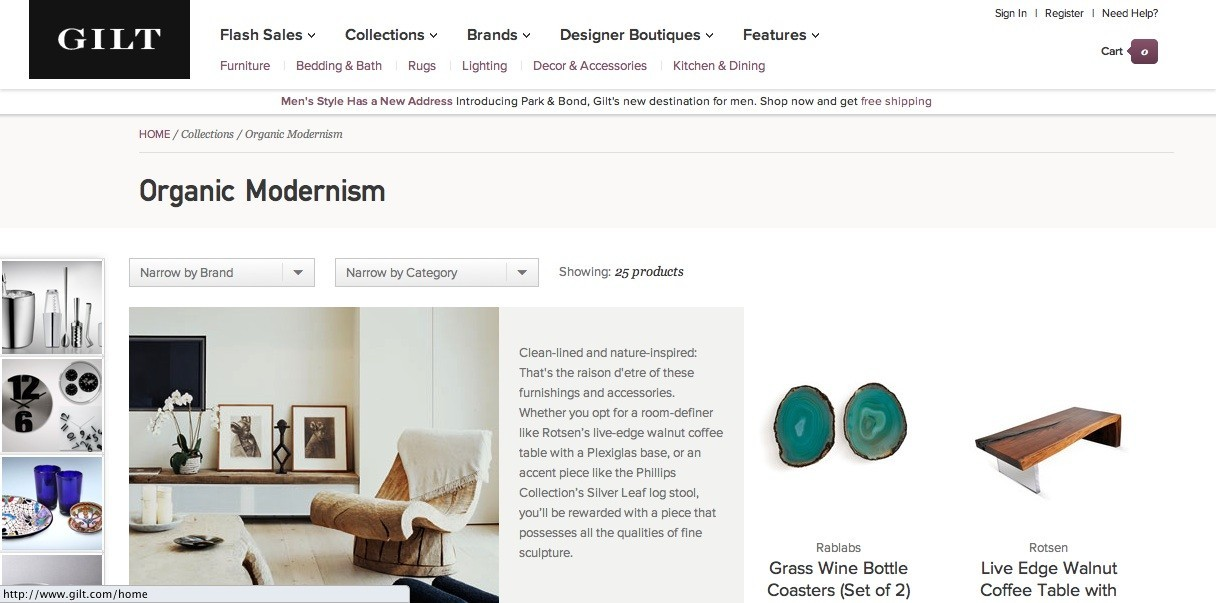 Gilt home 39 s new site goes beyond flash sales huffpost for Flash sale sites for home