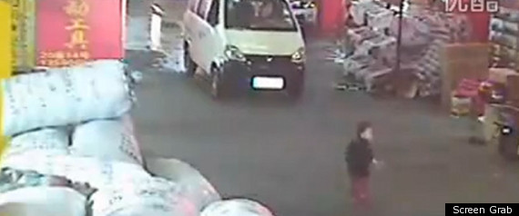 CHINESE TODDLER HIT BY VAN