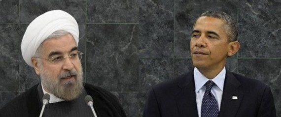 IRANIAN PRESIDENT HASSAN ROHANI AND OBAMA
