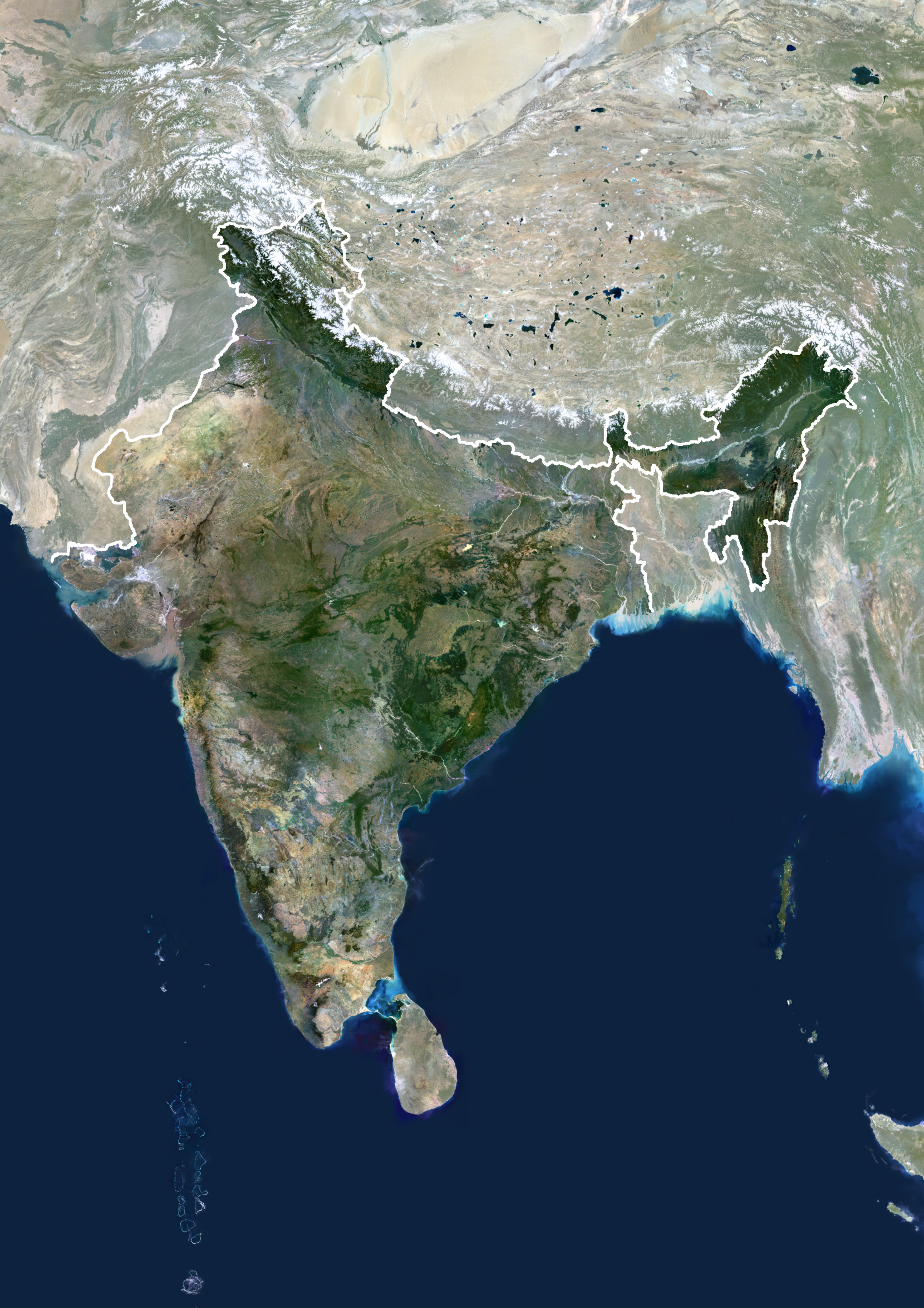 india sri lanka map