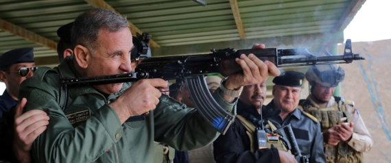 IRAQI DEFENCE MINISTER KHALED ALOBEIDI