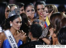 Desconsolada, Miss Colombia habla después del error