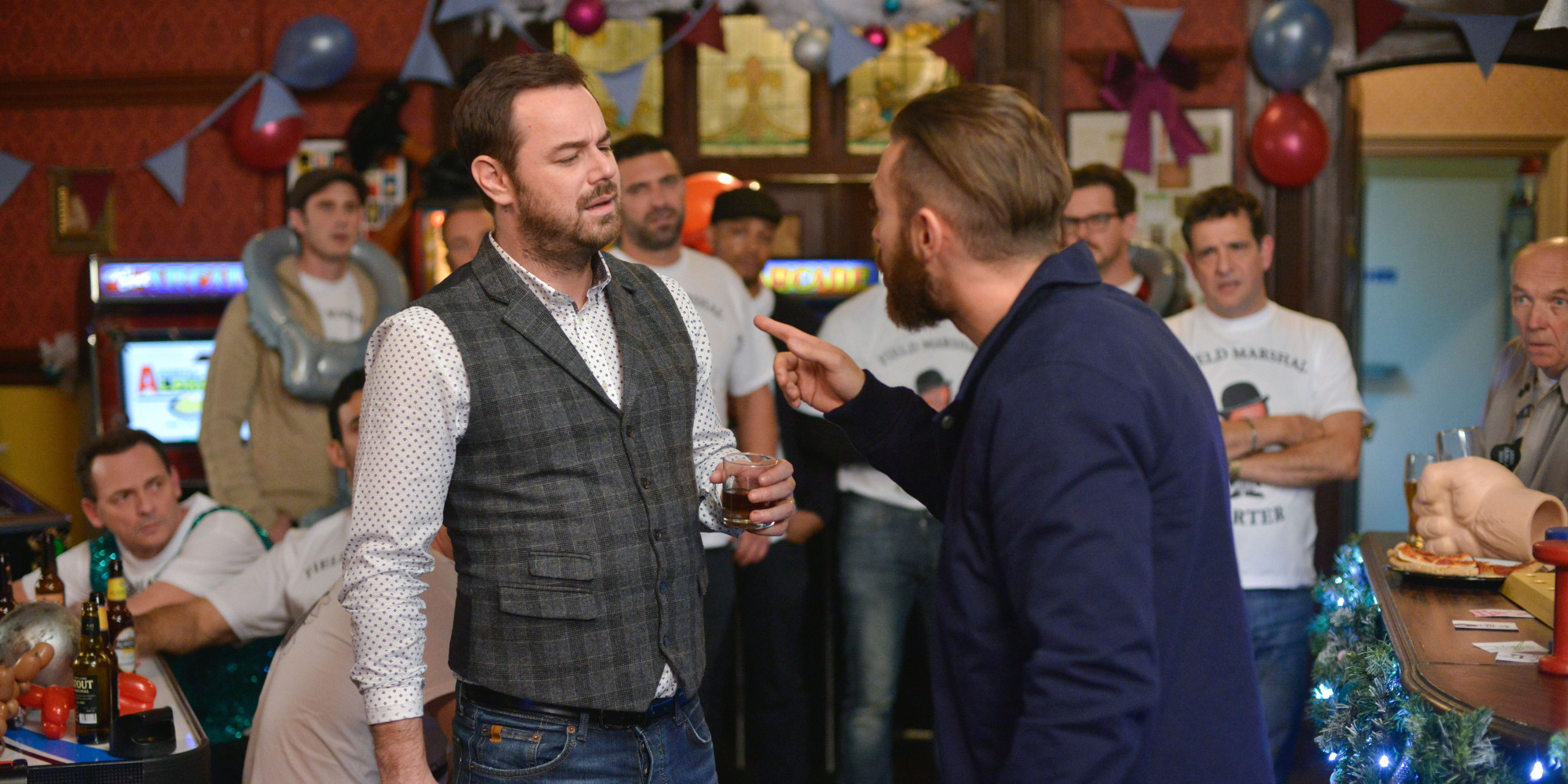 Eastenders Christmas Spoiler Danny Dyer Teases Mick Carter Stag Do Details As New Pictures