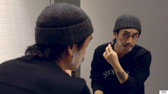 shave moustache