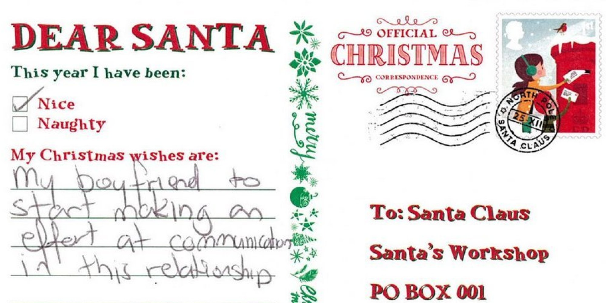 Adults Hijack Kids Letters To Santa With Miserable