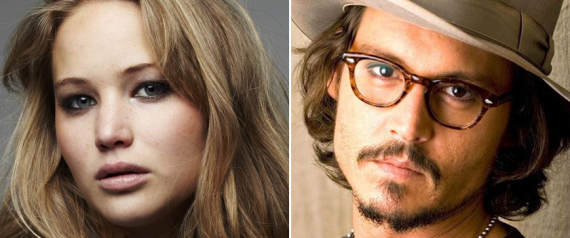 JENNIFER LAWRENCE JOHNNY DEPP