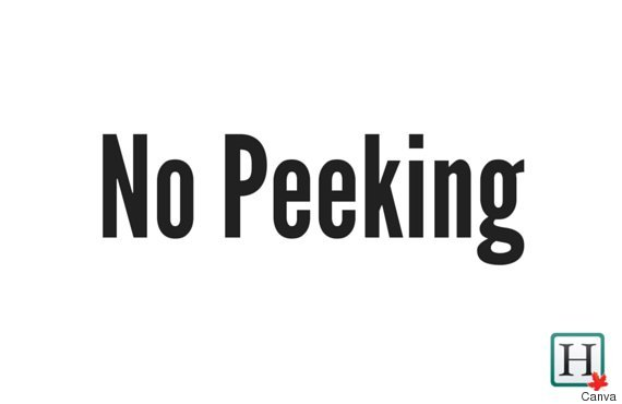 no peeking