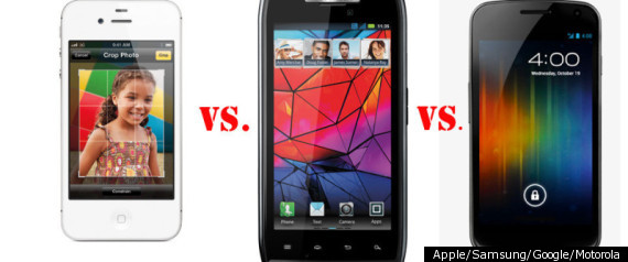 Galaxy Nexus Iphone 4s Droid Razr