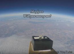 Une demande en mariage stratosphérique (VIDÉO)