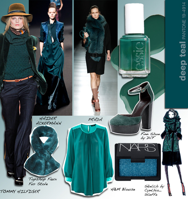 Color Trends What S New What S Next: Pantone Deep Teal # 19-4914 And The Fashion Trends That
