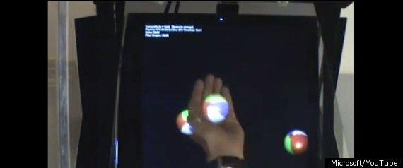 MICROSOFT CONCEPT 3D HOLODESK