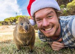 Cet homme est passé maître dans l'art de faire des selfies avec des animaux (PHOTOS)