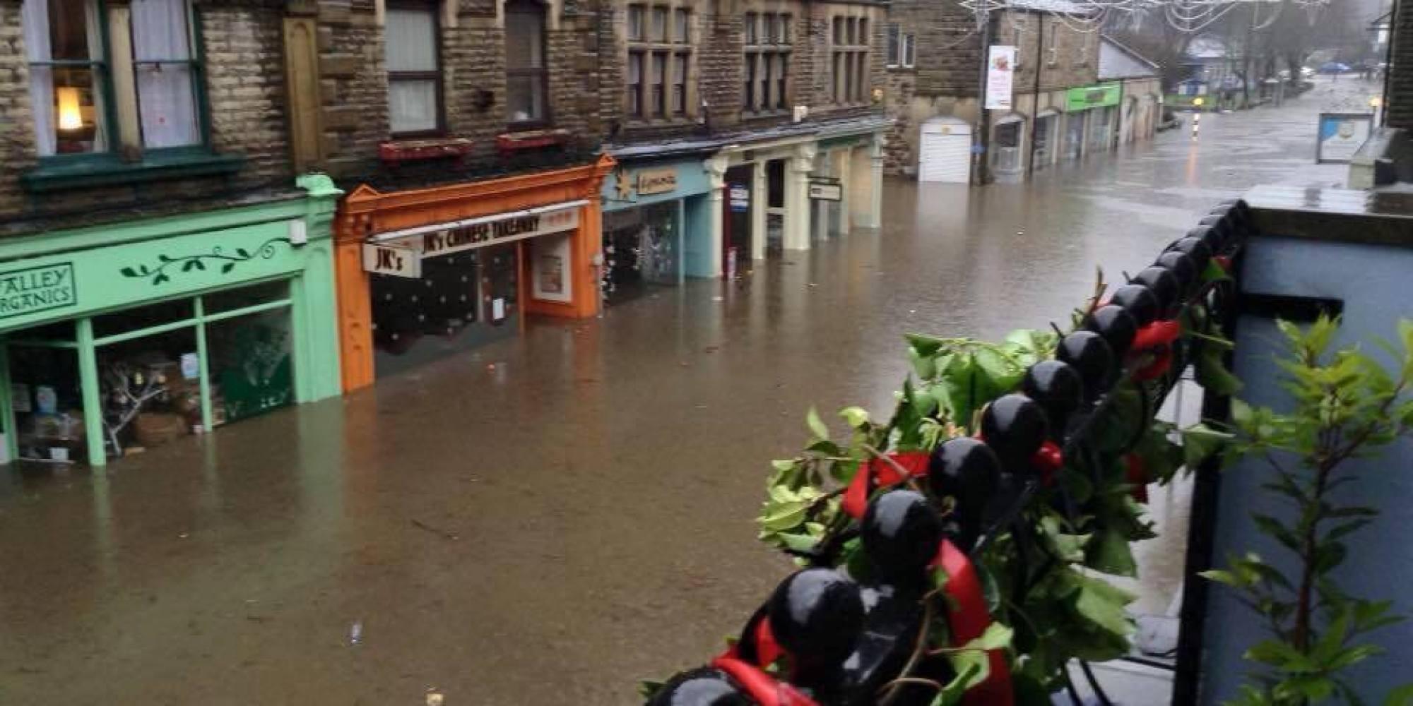 Flooding In Hebden Bridge, Yorkshire As Devastation Sweeps ...