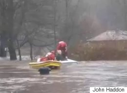Heart-Stopping Rescue Of Elderly Driver During Floods Captured On Film