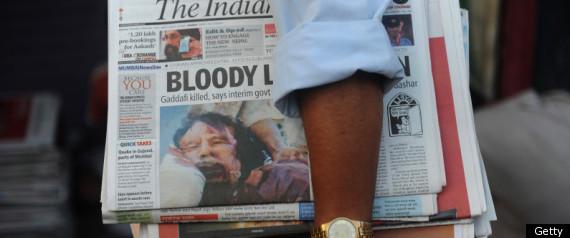 Gaddafi Dead Burial