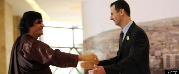 SYRIA GADDAFI DEATH