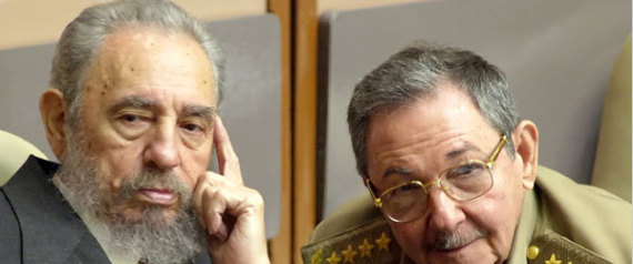 CASTRO FIDEL AND HIS BROTHER