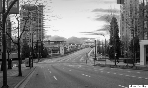 vancouver empty christmas morning