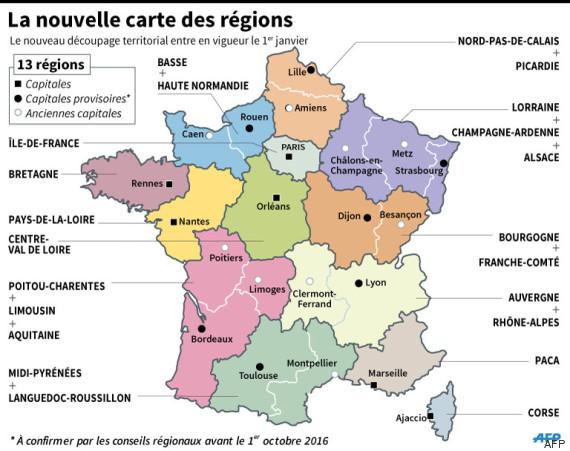 carte regions