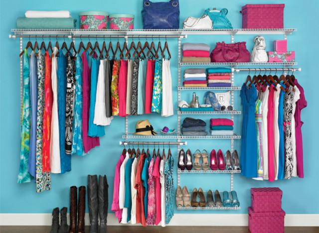closet organised
