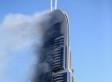Impresionante incendio en un hotel de Dubái