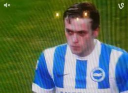 GRAPHIC: Footballer James Wilson Caught Vomiting On The Pitch On New Year's Day