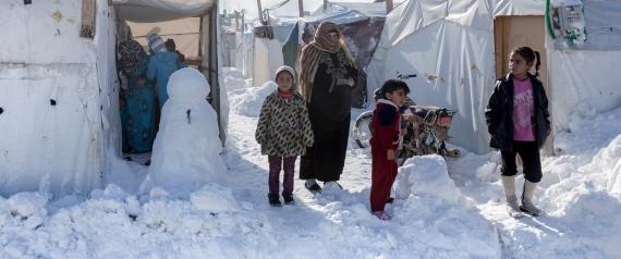 SNOW LEBANON SYRIAN REFUGEES
